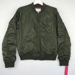 Xhilaration Olive Green Bomber Jacket Juniors M